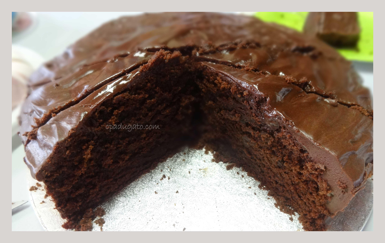 Cake Zebra Nappage Chocolat Gateau
